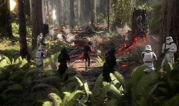 star wars battlefront II Foret