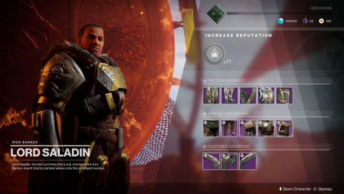 Destiny 2 - Patch 1.1.2 - Mise à jour - Lord Saladin