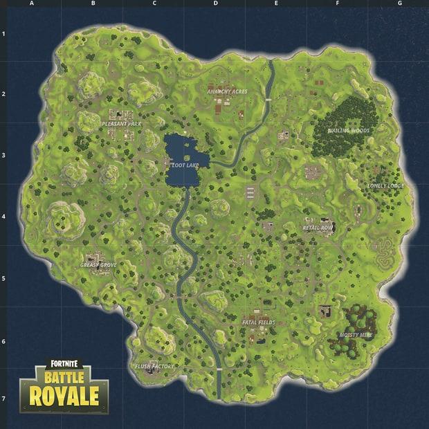 Fortnite - Ancienne carte