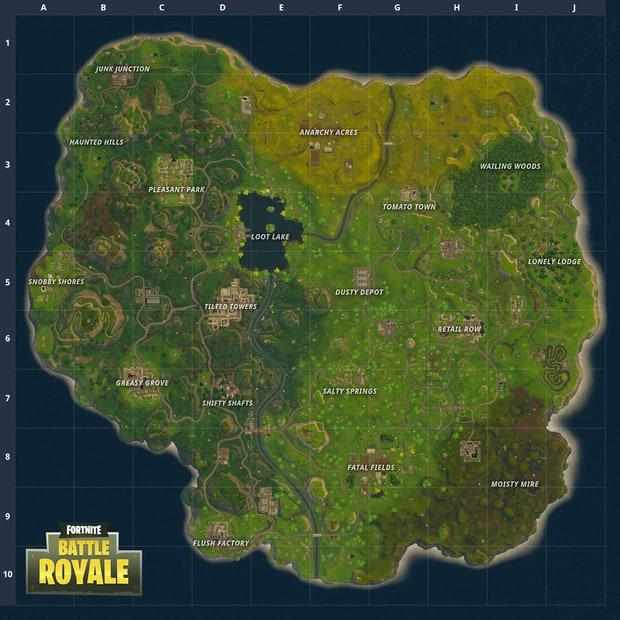 Fortnite - Nouvelle carte