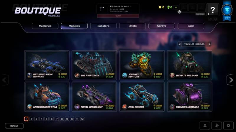 Heavy Metal Machines - meilleurs jeux PC gratuits 2018 - Boutique modèle de voiture