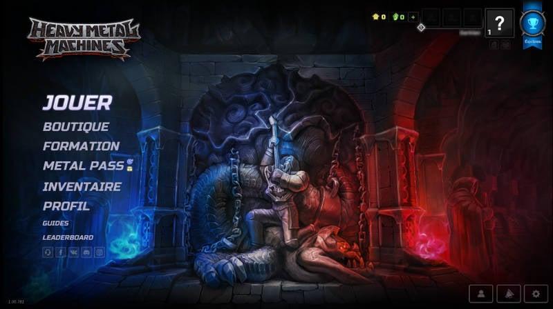 Heavy Metal Machines - meilleurs jeux PC gratuits 2018 - Ecran accueil