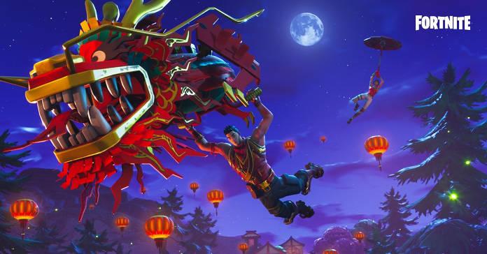 Fortnite - Planeur dragon et skin du nouvel an lunaire - planeur dragon légendaire