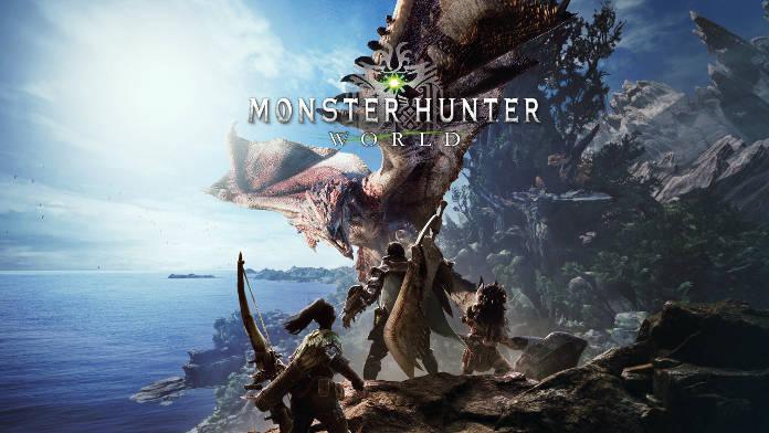 Monster Hunter World - equipes face à un monstre