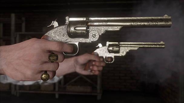 Red Dead Redemption 2 - Toutes les infos, date, trailer - double revolver gros plan