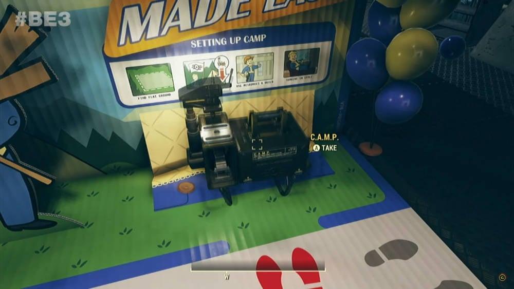 Fallout 76 - Le mode construction de base C.A.M.P, infos et vidéo - Element CAMP