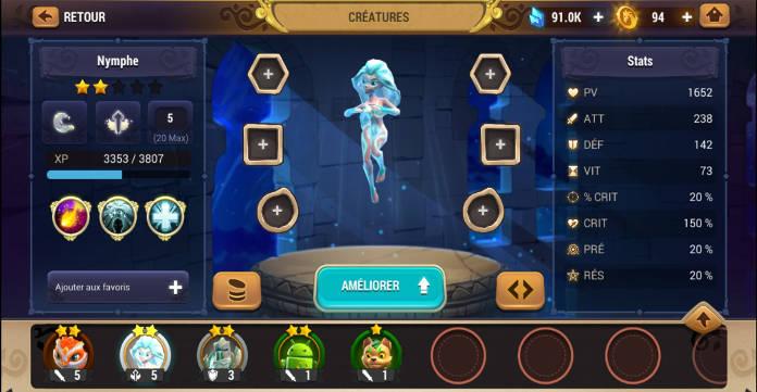Test - Might & Magic Elemental Guardians - L'univers M&M sur mobile - Créature
