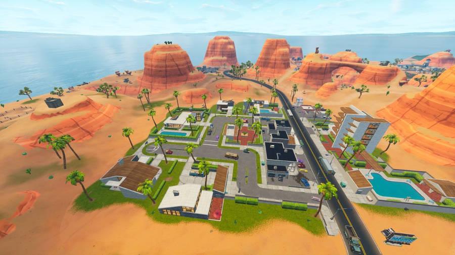 Fortnite Saison 5 - carte -Paradise Palms - nouvelle carte
