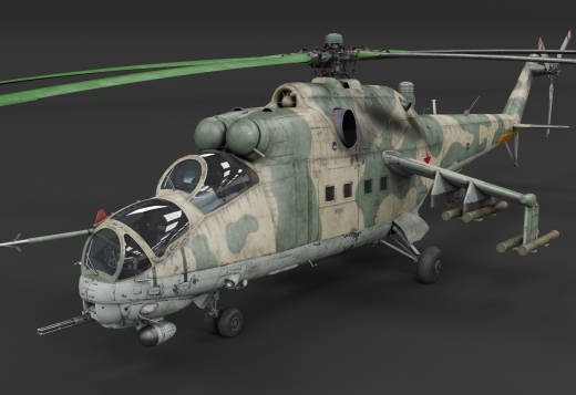 War Thunder 1.81 - helicoptere Mi-24 Hind