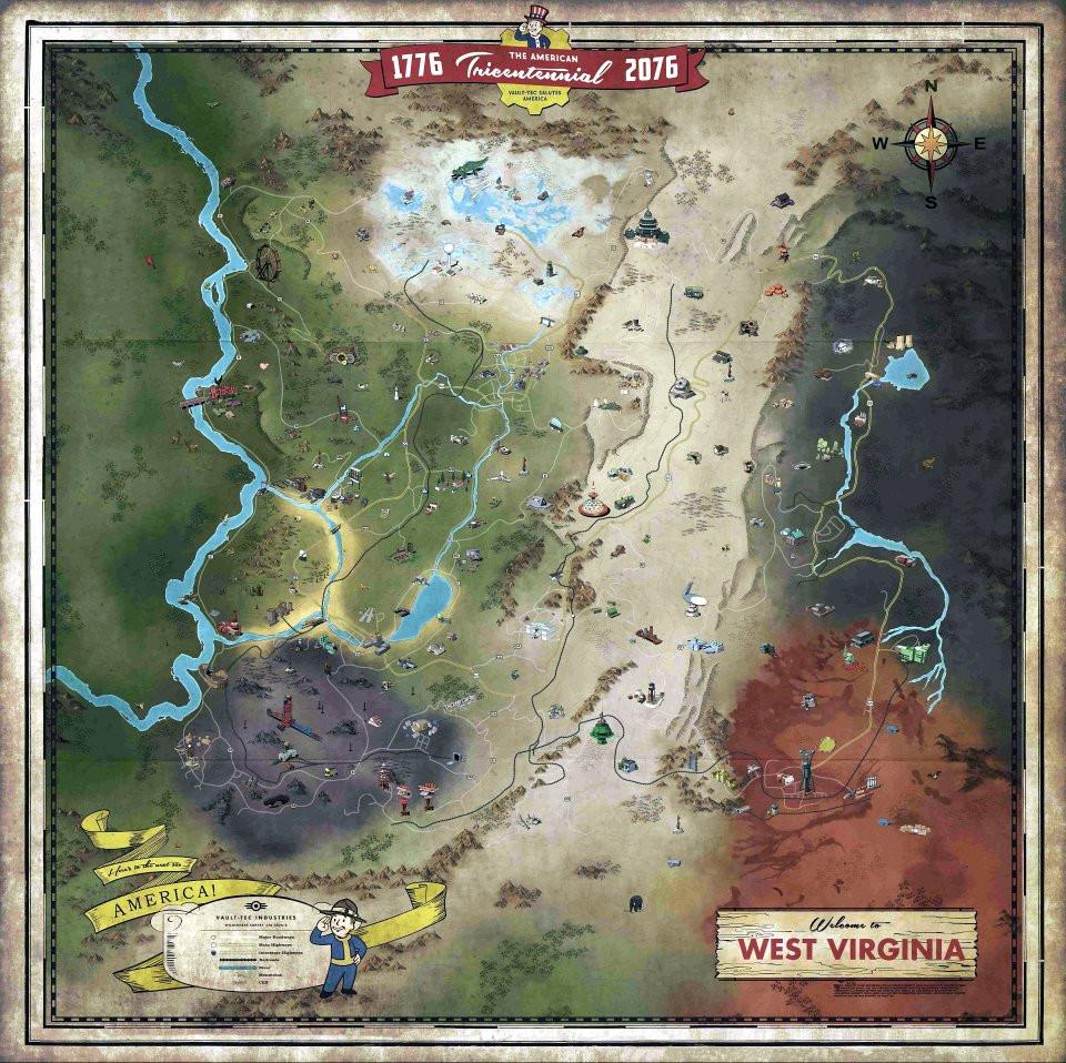 Fallout 76 - La carte