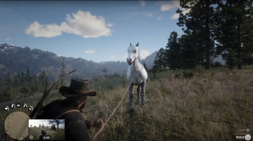 Red Dead Redemption 2 Dressage Guide - approcher doucement