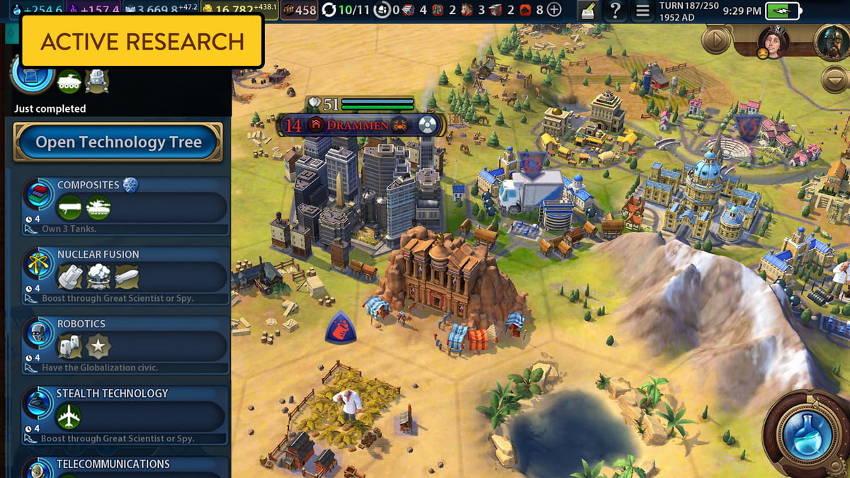recherche - civilization 6 iPhone