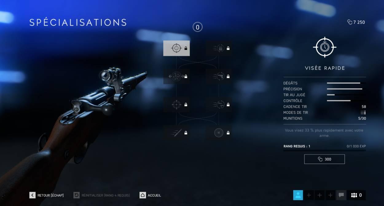 BF5 - Comment débloquer les spécialisations des armes