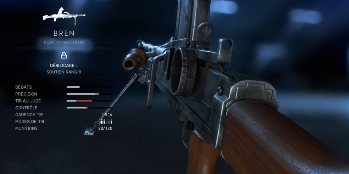 BF5 Meilleures Armes - soutien - bren