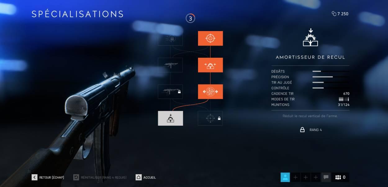 BF5 - les effets des spécialisations d'armes