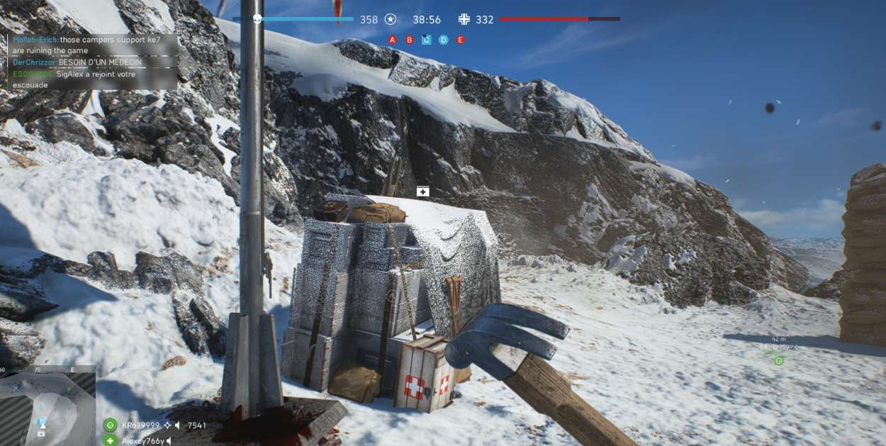 Battlefield 5 Construction et Fortification - stock de medikits construit