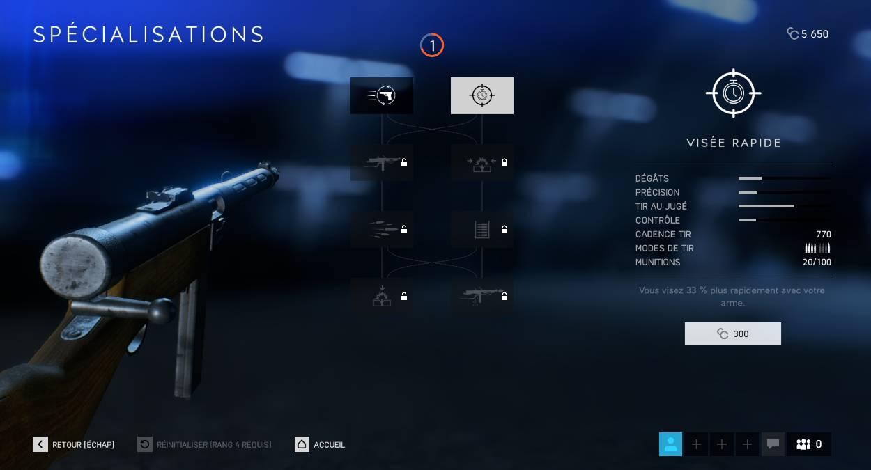 Battlefield 5 Guide - Améliorer vos armes - spécialisations des armes