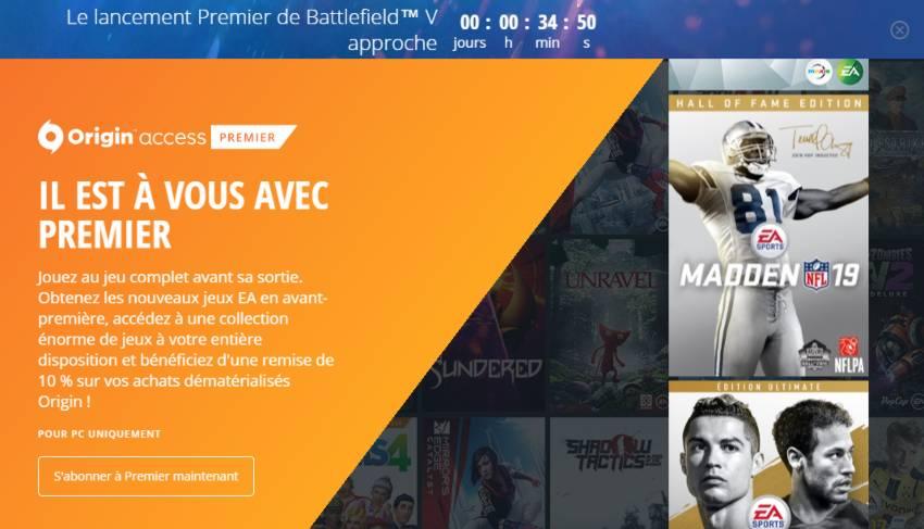 Battlefield 5 disponible aujourd'hui