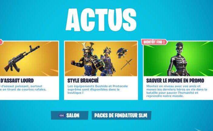 Fortnite Boutique 6 novembre - actus