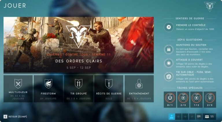 Mode de Jeu BF5 : Disponibles ou à venir – Guide