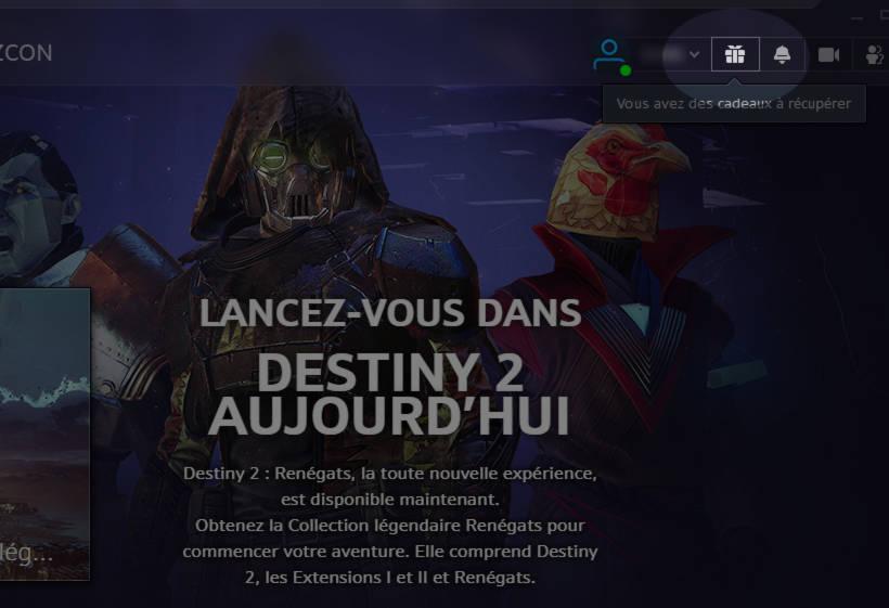Obtenez Destiny 2 gratuitement sur PC maintenant - etape 2