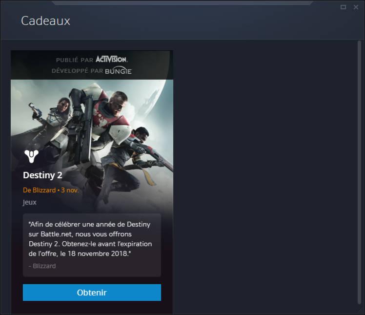 Obtenez Destiny 2 gratuitement sur PC maintenant - etape 3