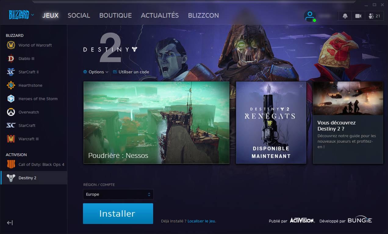 Obtenez Destiny 2 gratuitement sur PC maintenant - etape 5