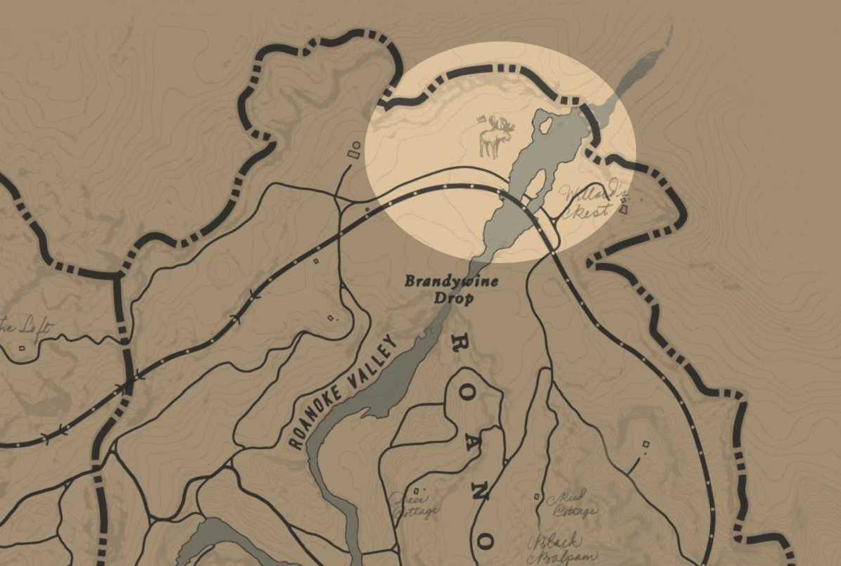 RDR2 Animaux Légendaires - emplacement élan