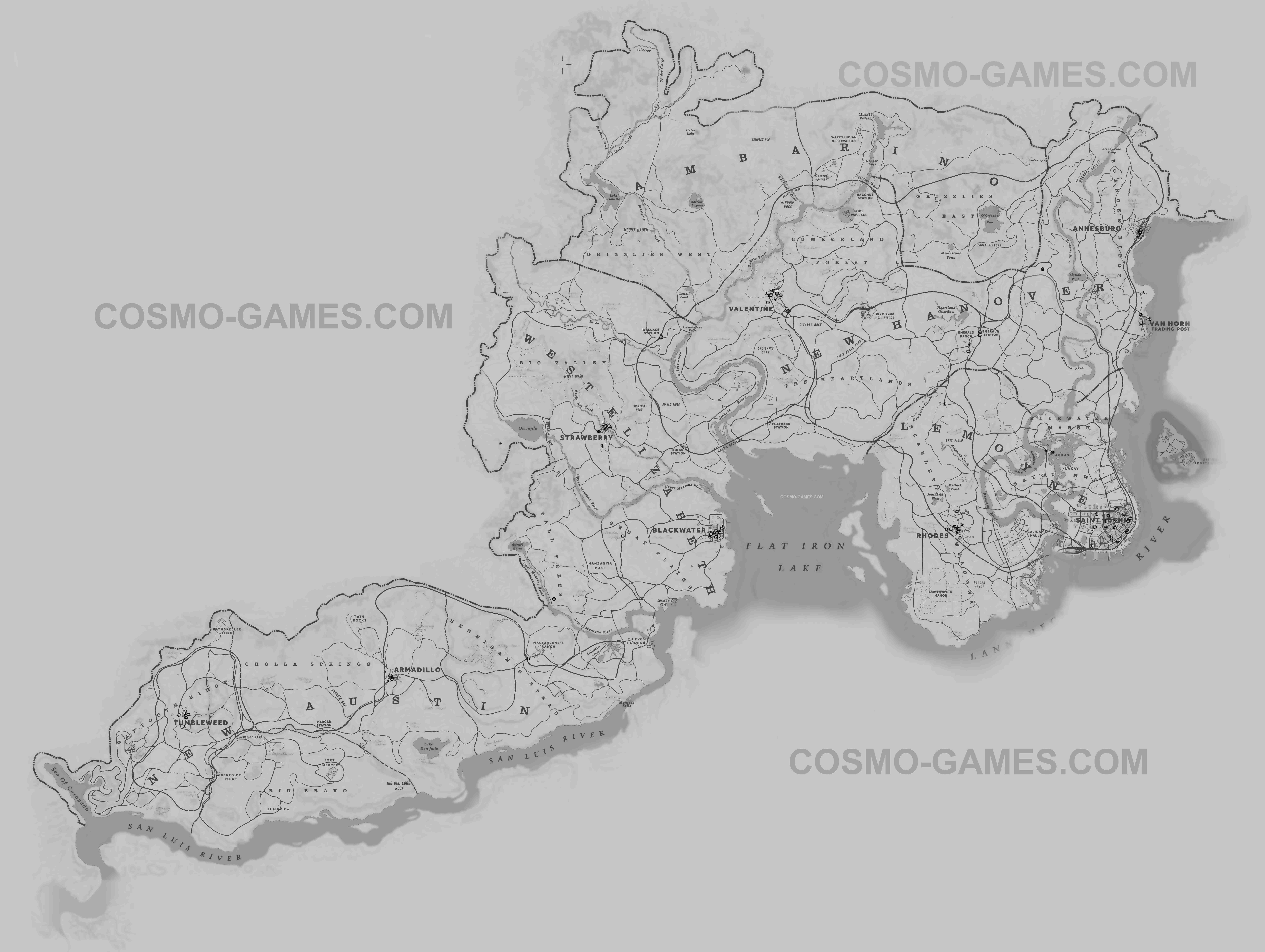 Red Dead Redemption 2 Carte Complète V2