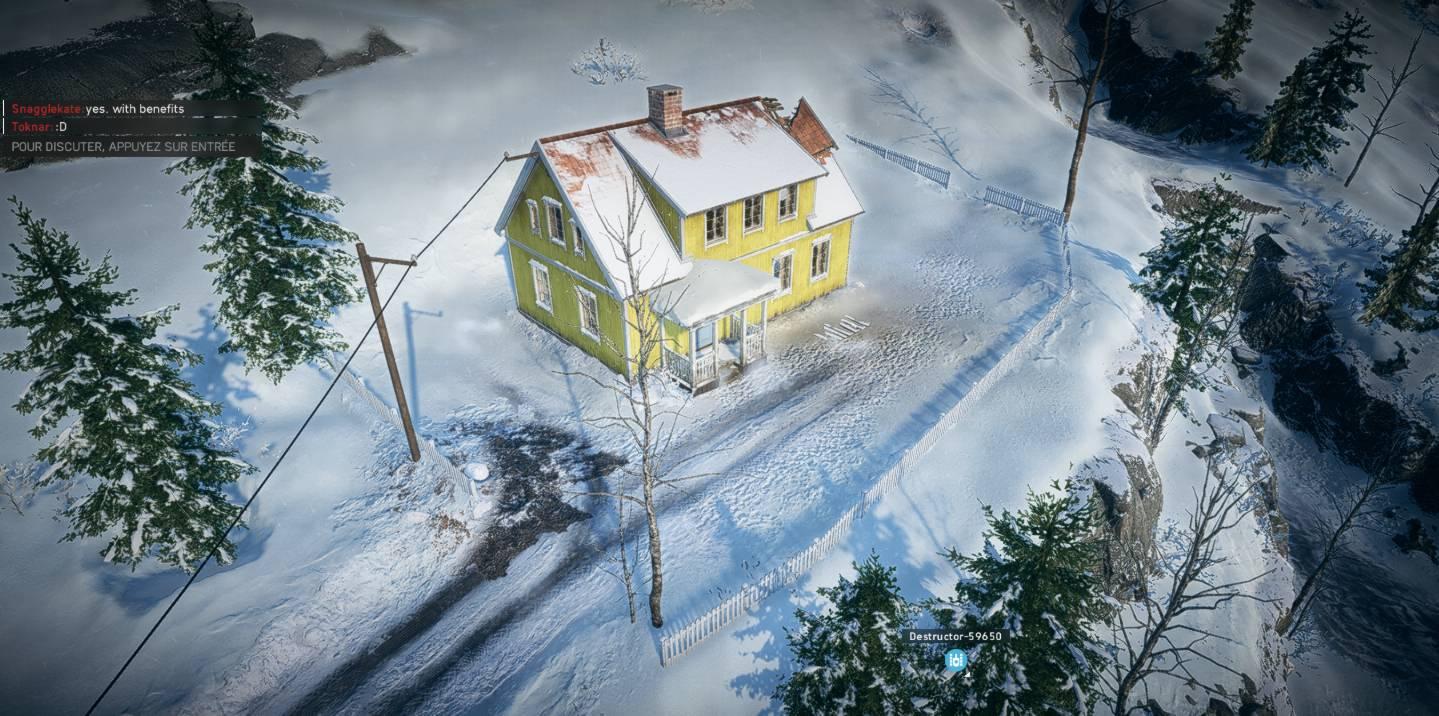 Battlefield 5 - Narvik - bonhomme de neige - vue globale