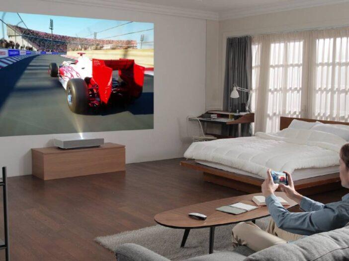 Un nouveau projecteur CineBeam Laser 4K de LG, 3 mètres de diagonale