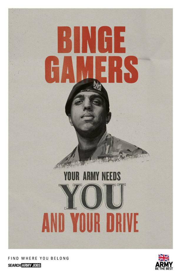 Armée et jeux vidéos de Fornite à soldat, il n'y a qu'un pas
