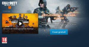 Black Ops 4 Blackout - Gratuit pendant 7 jours