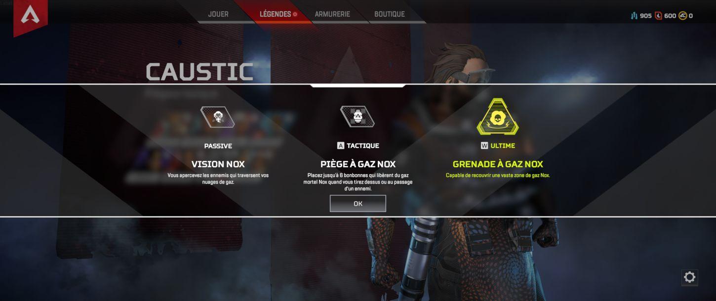 Caustic capacités - Apex Legends