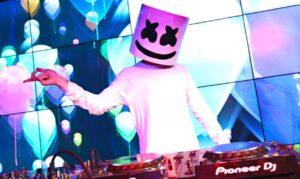DJ Marshmello sur Fortnite