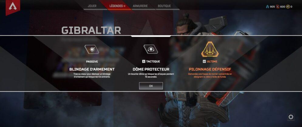 Gibraltar capacités - Apex Legends
