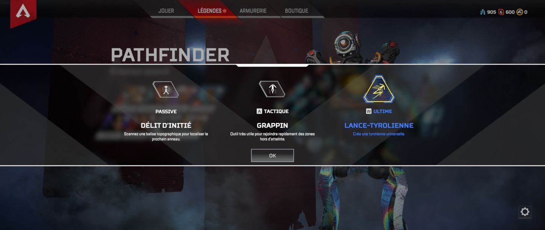 Pathfinder capacités - Apex Legends