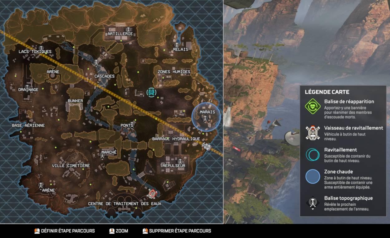 bien s'orienter dans la carte Apex Legends