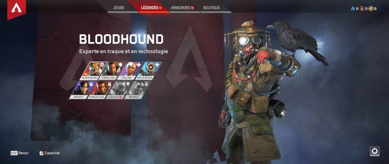 personnage Bloodhound - Apex Legends