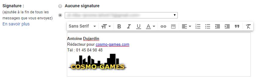 Ajouter une signature Gmail avec une image ou logo