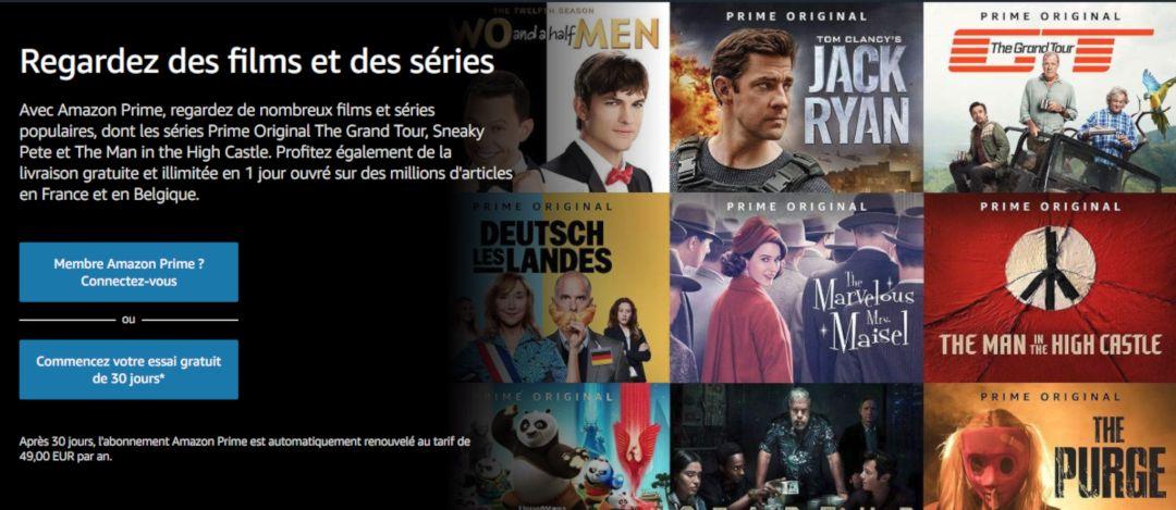 Amazon Prime Vidéo - Comparatif Streaming Vidéo