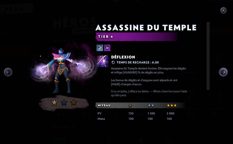 Assassine du temple - Dota Underlords
