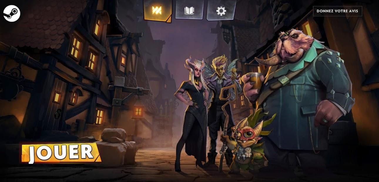 Cliquez sur le logo Steam de l'écran d'accueil