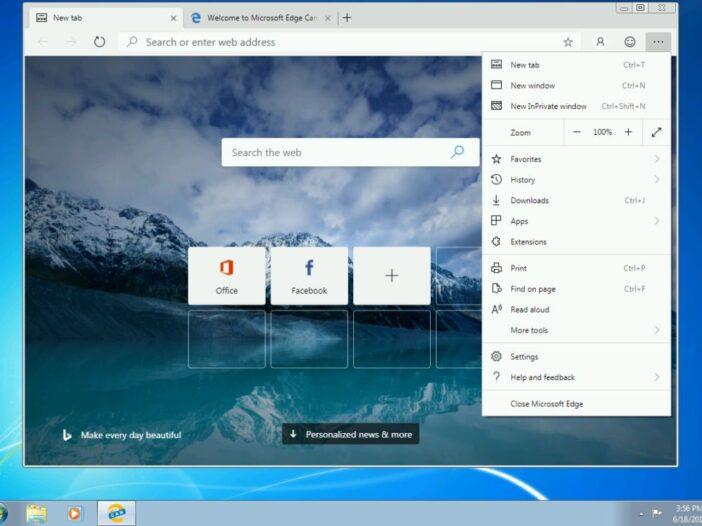Edge Chromium pour windows 8 et 7