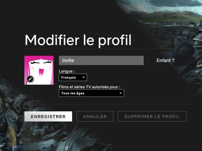 Netflix - comment ajouter un profil