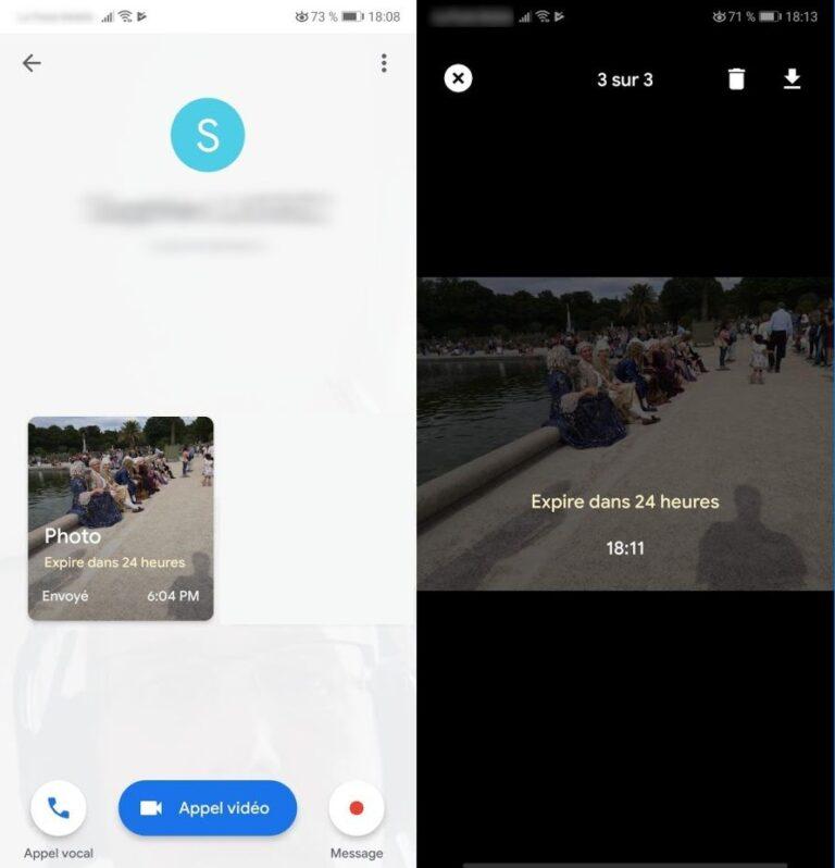 Google Duo : envoyez des photos prévues pour s'autodétruire