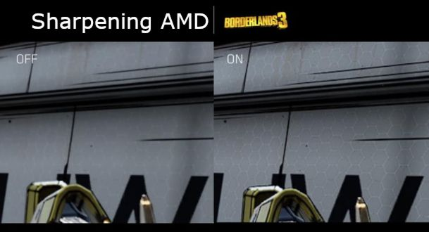 Radeon Image Sharpening - exemple sur Borderlands 3
