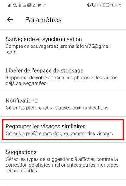 Comment activer le regroupement de visage de Google Photos - France