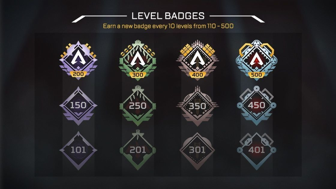 nouveaux badges de progression niveau - Apex Legends