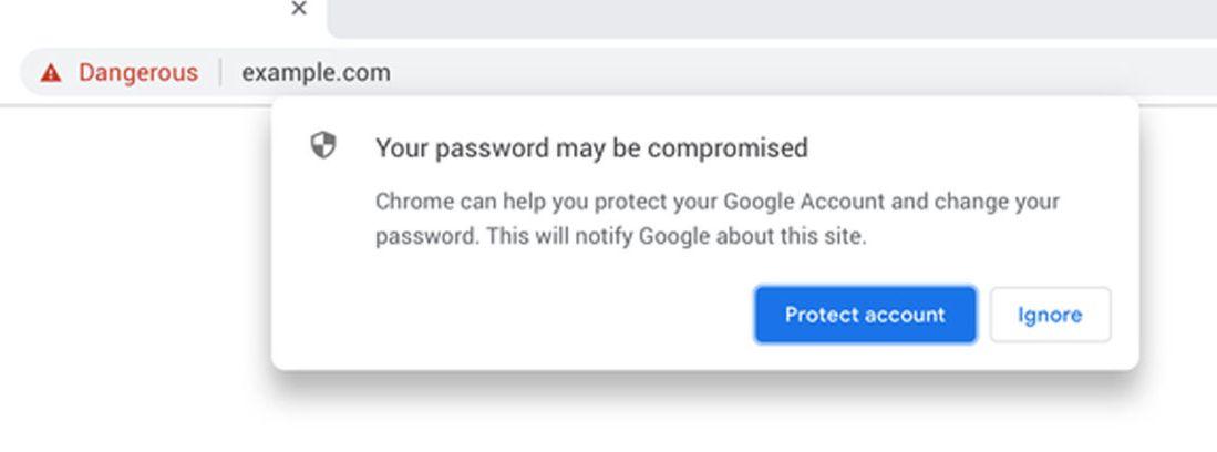 Chrome vérifie si votre mot de passe a été volé pendant votre navigation